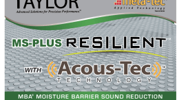 W.F. Taylor has released MS Plus Resilient Acous-Tec MBA Multifunctional Adhesive for resilient flooring.