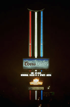 The view of the sign from the south freeway.