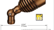Auroralight's Titan is a high performance, low energy LED spotlight machined from solid brass bar.