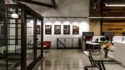 Located in Chicago's West Loop, the project converted a 7,000-square-foot, 2-story space into a single-story building with a mezzanine