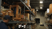 High-output fixtures at the materials management warehouse were replaced with T5 high-bay fixtures and occupancy sensors.