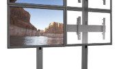Chief's FUSION Series freestanding solution makes it possible to construct video walls.