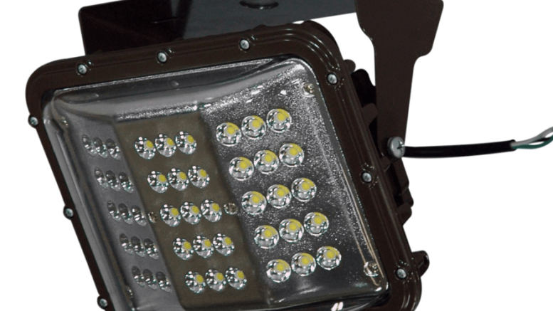 Low Canopy LED Light Features Removable Glare Shield - retrofit
