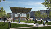 The artist rendering of Bailey Park at East End stage demonstrates how the area will provide the perfect setting for musical, dance and theatrical performances. Rendering: Stitch design + development