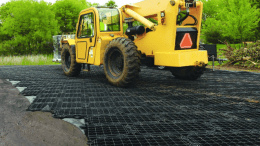 Presto Geosystems, a manufacturer of soil stabilization and stormwater products, announces GEOTERRA GTO construction mats.
