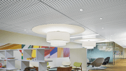 Armstrong Ceiling Systems has added a white painted finish to its line of WoodWorks Grille Ceiling Systems.