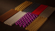 Cascade Architectural's Fabricoil features interlocked strands of coiled wire formed into a flexible fabric.