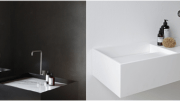 NotOnlyWhite's Scape collection from HI-MACS comprises two basin series: Scape Monolith and Scape Wall-Hung.
