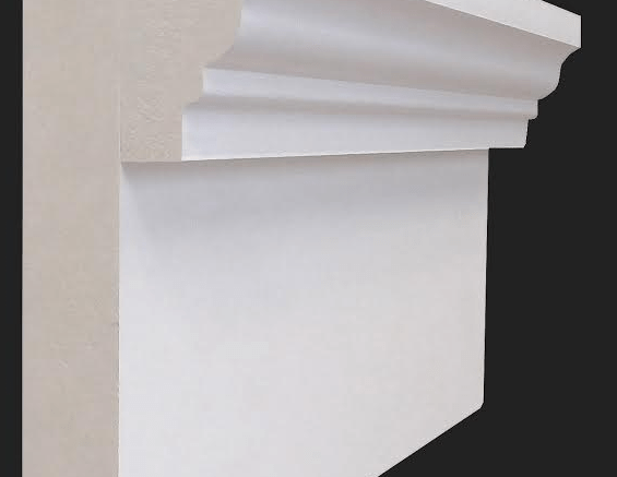 Builders and remodelers installing architectural trim can save labor and get better results with an improved high-density PVC crosshead pediment profile from Versatex Building Products LLC.