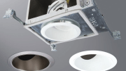 The Halo LED ALLSLOPE recessed downlight system from Eaton is specifically designed for slope ceilings.