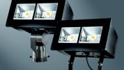 Eaton introduces the Lumark Night Falcon LED floodlight luminaire.
