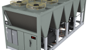 Trane Sintesis air-cooled chillers offer a cooling solution, providing energy efficiency, multiple acoustical treatment options for low-sound output and refrigerant choices to address sustainability concerns.