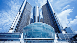 Valspar's Fluropon was used in the GM Renaissance Center project in Detroit, 1977.