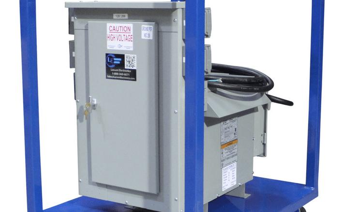 Power Distribution Panel System Converts Three Phase 480 V