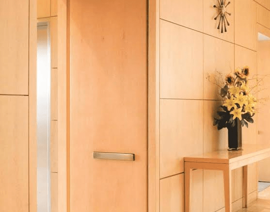 The RITE Door by Adams Rite, an ASSA ABLOY Group company, is available with a wide variety of finishes and stylish handles.