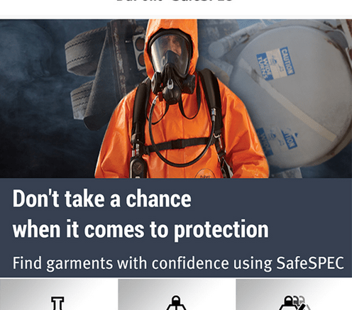 DuPont Protection Technologies launches DuPont SafeSPEC Mobile, a comprehensive interactive mobile application that enables safety professionals to select chemical protective apparel from their smartphone.