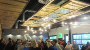 Three Airius fans, installed at the ceiling above the HVAC ductwork, blend well in the taproom's design and are virtually unnoticeable to customers.