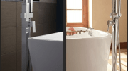 Two new floor-mounted tub fillers are now available from American Standard.