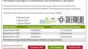 Phifer Inc. introduces an online Petroleum Savings & CO2 Greenhouse Gas Avoidance calculator tool for SheerWeave Style 4000/4100/4400 interior sun control fabrics made with sustainable DOW ECOLIBRIUM Bio-Based Plasticizers.