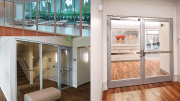 Fireframes Aluminum Series fire-rated frames for door, sidelite, transom and window applications.