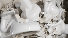 Mansfield Plumbing has recycled 10 million pounds of fired scrap, 10 million pounds of spent plaster molds, 330,000 pounds of cardboard and cartons, 8,900 pounds of paper, 3,000 pounds of plastic and 6,000 wooden pallets.