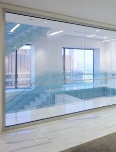 Fireframes ClearView System allows design professionals to create fire-rated glass walls with nearly colorless transitions between glass panels.