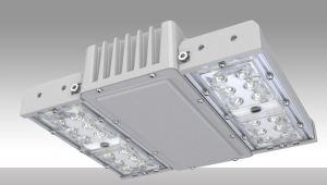 The LED Parking Garage Square Canopy provides lighting for commercial and municipal parking applications.