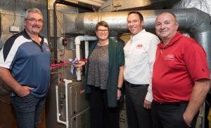 Bryant Heating & Cooling and Rapid Cool donate heating and cooling systems to the Kamloops YMCA-YWCA Women's Shelter.