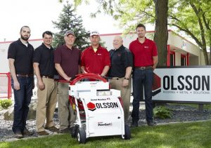 OMG Roofing Products presents PaceCart3 to Olsson Roofing.