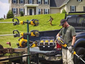 The DEWALT battery-operated outdoor equipment provides low noise levels for properties with noise restrictions and cities with bans on noise levels.