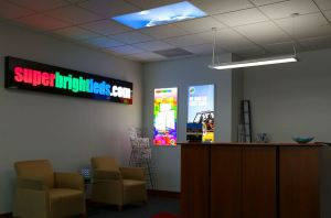 The expanded LED panel light line allows customer-submitted images to be printed directly on individual panel lenses.