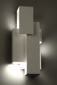 The Escher LED wall sconce has a low profile design that enables the luminaire to mount vertically or horizontally.