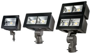 The Night Falcon LED floodlight series offers integrated control options that reduce light levels and power consumption.