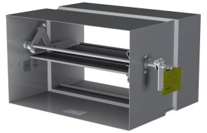 Ruskin fire and combination fire and smoke dampers can be mounted horizontally in UL design I503.