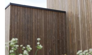 The Kebony line of line of clear-grain decking and cladding products is treated with a bio-based liquid for durability.