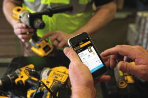 The Tool Connect inventory management system works by pairing connected tools, equipment, and materials with the Tool Connect app.