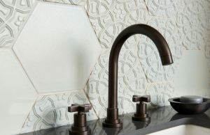 The Andalucia terra cotta tiles reflect a blend of Moorish and European designs found in Seville, Cordoba as well as Granada in southern Spain.