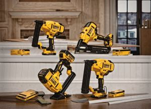 Each of the cordless nailers are battery-powered, eliminating the need for gas, compressors, and hoses.