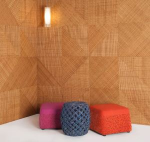 Fractal are customizable architectural panels fabricated using Plyboo RealCore bamboo.