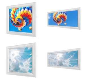 LED Skylights feature one of several printed sky diffusers and are an alternative to traditional window skylights.