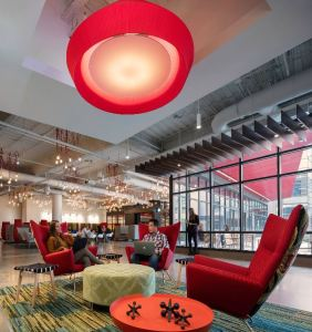 Corporate environments incorporate more relaxed settings for interactions to take place naturally.