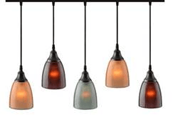 This pendant lighting fixture offers a variety of glass shade designs and colors, canopy plate finishes and cord lengths for customization.