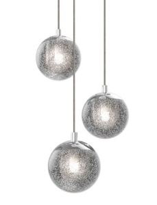 Champagne Bubbles is available in multiple configurations from a single pendant to a multi-piece chandelier.