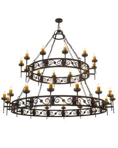 The Majella Chandelier features scroll accents with floral medallions and decorative bobeches.