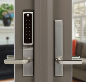 Keyless Lock for Hinged Patio Doors Is Smart Home Compatible