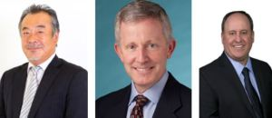 METUS appoints three individuals to its executive team. From left to right: Atsuhiro Yabu (CEO), Mark Kuntz (COO) and Andrew Kelso (CFO)