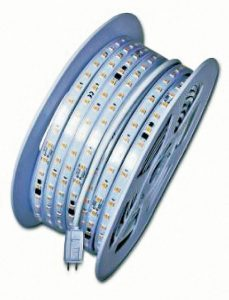 The AC LEDStrip is a linear LED lighting system for indoor or outdoor use.