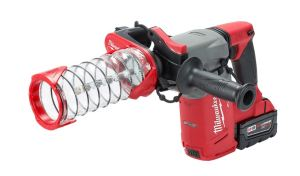 The Milwaukee SDS Plus DUST TRAP Drilling Shroud doesn't require the use of a vacuum for dust collection.