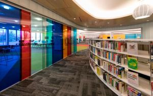 After a 15,000 square-foot addition, the library now occupies over 60,000 square feet.