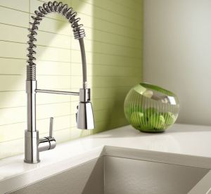 Several Bélanger by Keeney faucets feature brass construction with chrome or PVD resistant finishes to protect against corrosion and tarnishing.